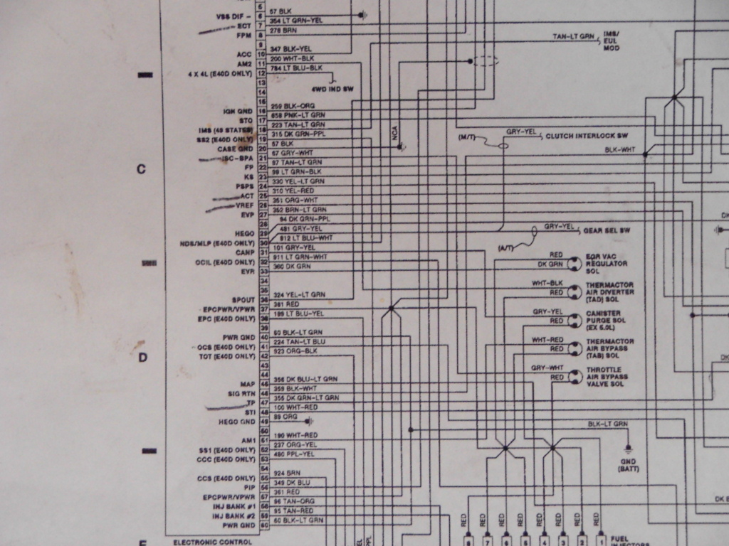 Long 460 Wiring Harness Library E40d Diagram By Cutting The Original Into About 4 Pieces And Stripping Out Any Unneeded Then